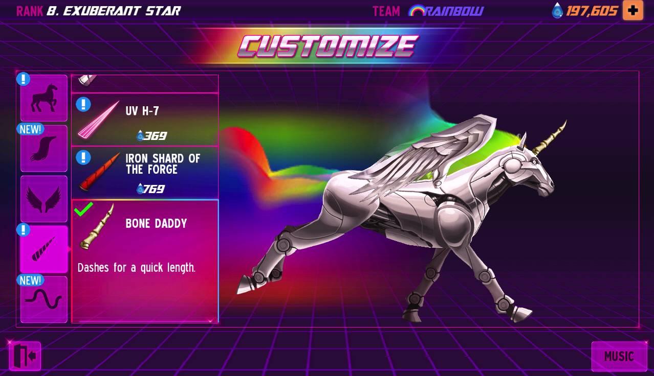Robot Unicorn Attack 2 Customize