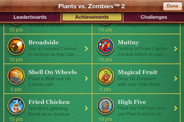 plants vs zombies 2 achievements
