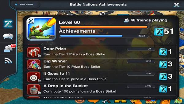 Battle Nations Achievements