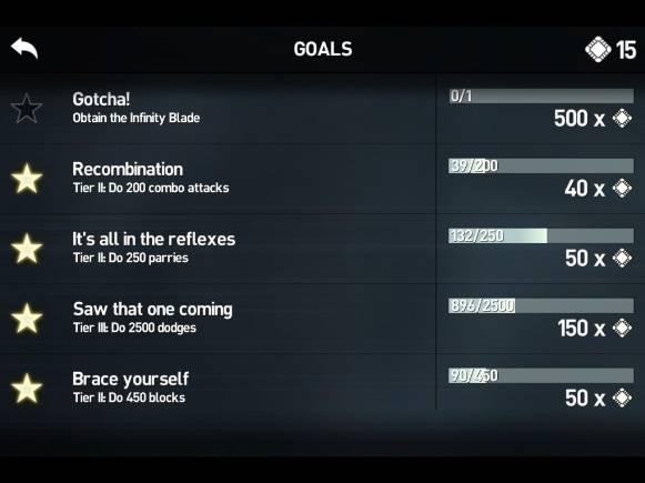 Infinity Blade 3 Goals