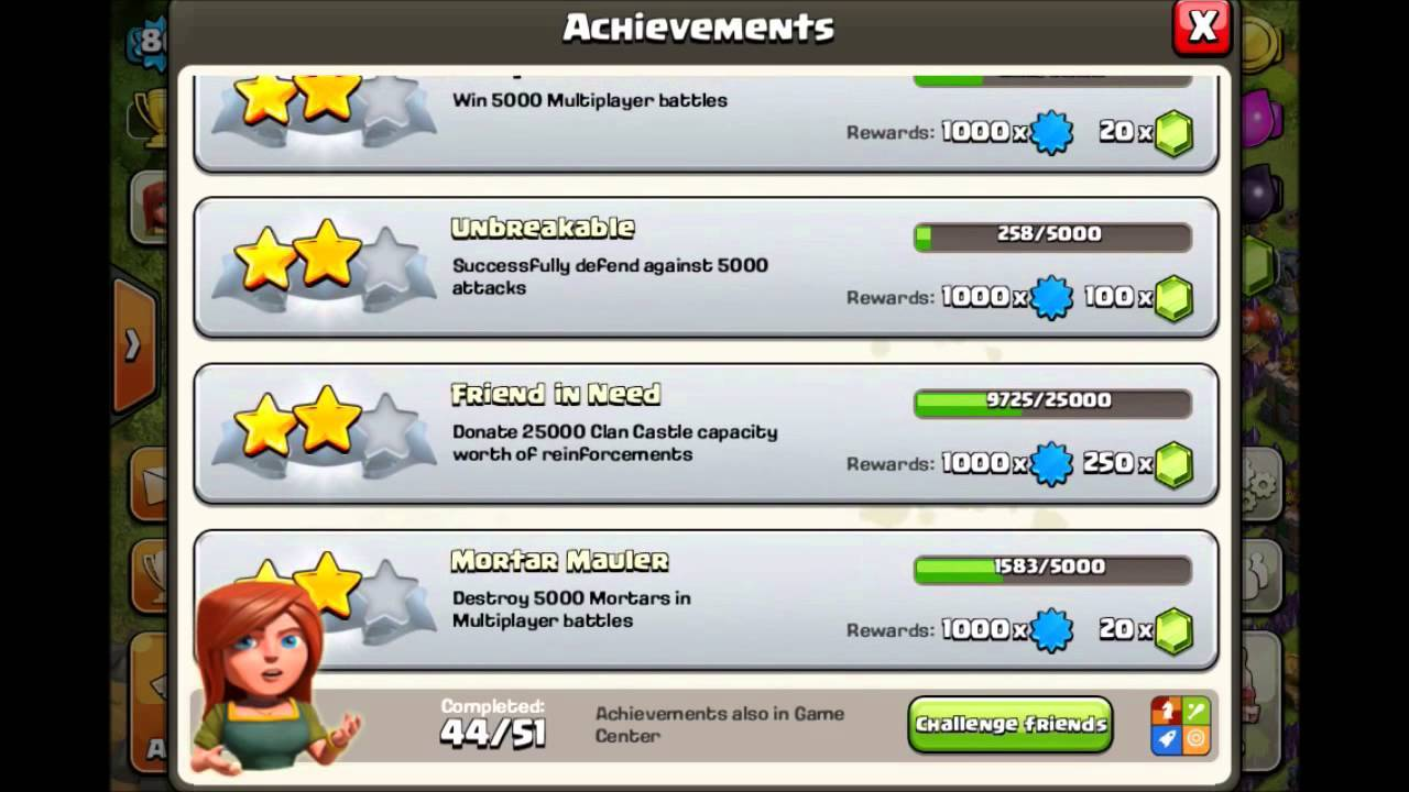 Clash of Clans Achievements
