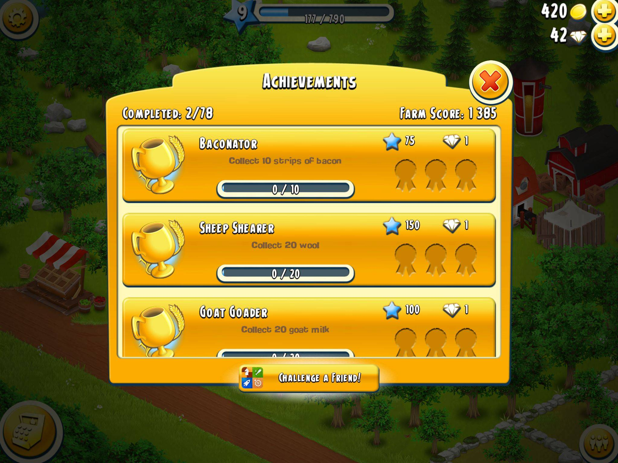 Hay Day Achievements