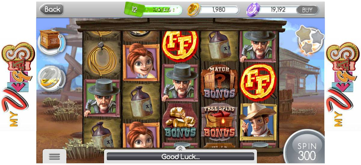 "Screenshot of ""Frontier Fortune"" from My Vegas."