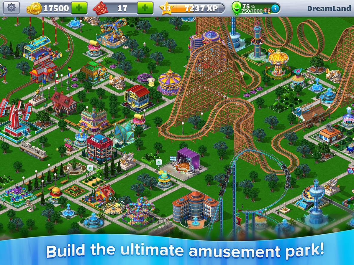 RollerCoaster Tycoon 4 Mobile Game Screenshot