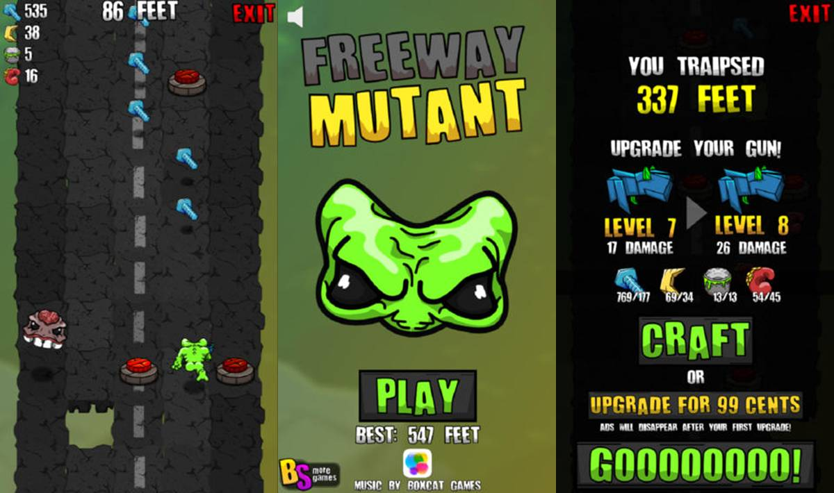 Freeway Mutant Mobile Game