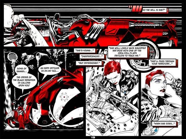 SXPD The Rookie Comic Artwork