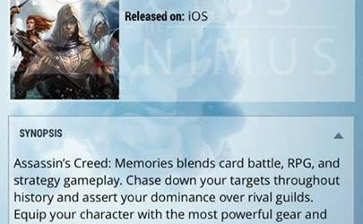 Assassin's Creed Memories Mobile Game