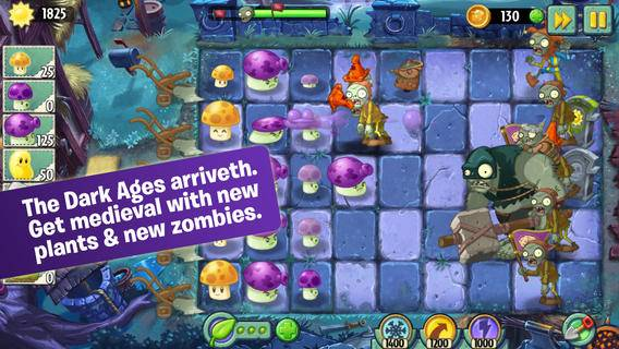 Plants vs Zombies 2 Dark Ages Update Part 1